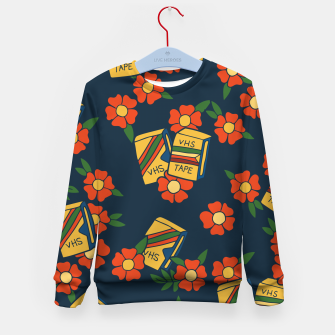 Thumbnail image of VHS tapes retro 80s love Kid's sweater, Live Heroes