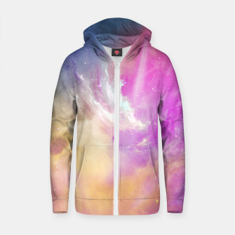 Thumbnail image of Galactic waves Cotton zip up hoodie, Live Heroes