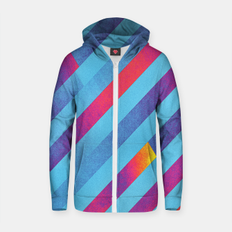 Thumbnail image of Pattern 1  Cotton zip up hoodie, Live Heroes