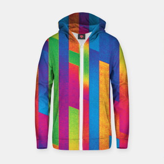Thumbnail image of Pattern 4  Cotton zip up hoodie, Live Heroes