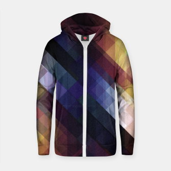 Thumbnail image of Pattern 5 Cotton zip up hoodie, Live Heroes