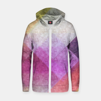 Thumbnail image of Pattern 8 Cotton zip up hoodie, Live Heroes