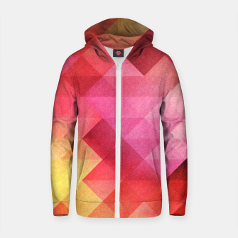 Thumbnail image of Fall pattern Cotton zip up hoodie, Live Heroes