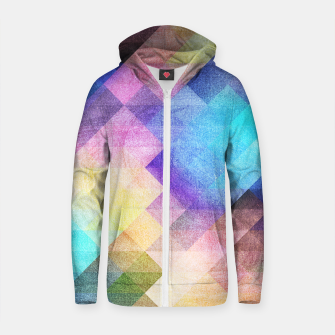 Thumbnail image of Pattern 10 Cotton zip up hoodie, Live Heroes