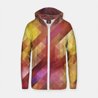 Thumbnail image of Fall pattern 2  Cotton zip up hoodie, Live Heroes