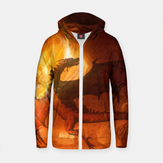 Thumbnail image of Dragon's world Cotton zip up hoodie, Live Heroes
