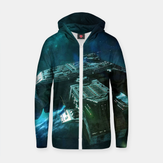 Thumbnail image of Journey home Zip up hoodie, Live Heroes
