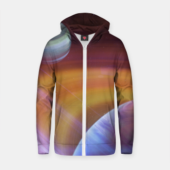 Thumbnail image of Outer space Cotton zip up hoodie, Live Heroes