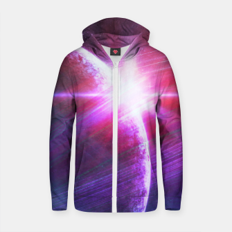 Thumbnail image of Parallel world II Cotton zip up hoodie, Live Heroes