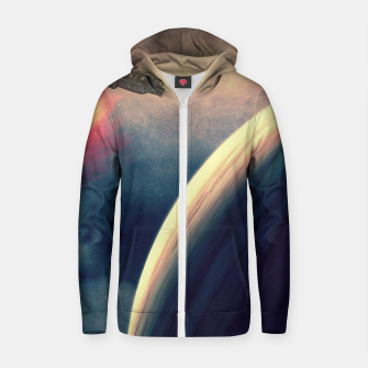 Thumbnail image of Excursion through time Cotton zip up hoodie, Live Heroes