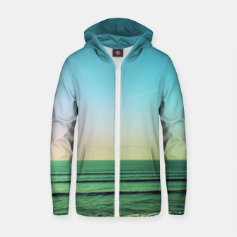 Thumbnail image of Winter blues Cotton zip up hoodie, Live Heroes