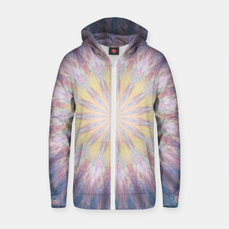 Thumbnail image of Journey through the wormhole Cotton zip up hoodie, Live Heroes