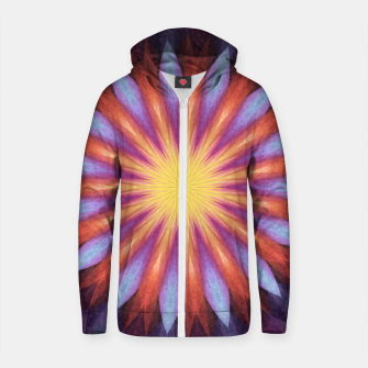 Thumbnail image of Flowernova Cotton zip up hoodie, Live Heroes