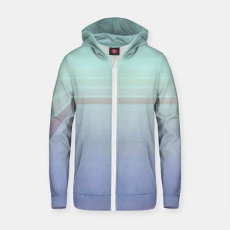 Thumbnail image of Horizontal flight (Blue edition)  Cotton zip up hoodie, Live Heroes