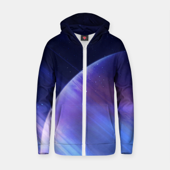 Thumbnail image of Secrets of the galaxy Cotton zip up hoodie, Live Heroes