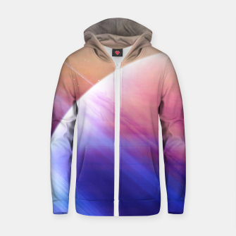 Thumbnail image of Return to the secrets of the galaxy  Cotton zip up hoodie, Live Heroes