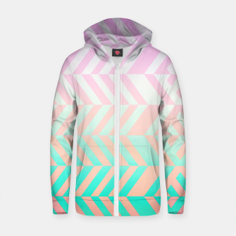 Thumbnail image of Chevron pattern Cotton zip up hoodie, Live Heroes