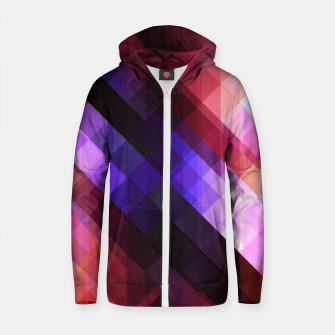 Thumbnail image of Pattern 11 Cotton zip up hoodie, Live Heroes