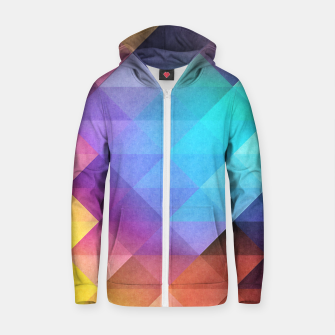 Thumbnail image of Pattern 12 Cotton zip up hoodie, Live Heroes