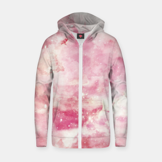Thumbnail image of Cute pink galaxy Cotton zip up hoodie, Live Heroes