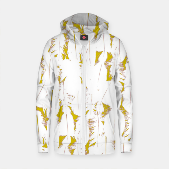 MAD MANUHURU Tweet Cotton zip up hoodie thumbnail image