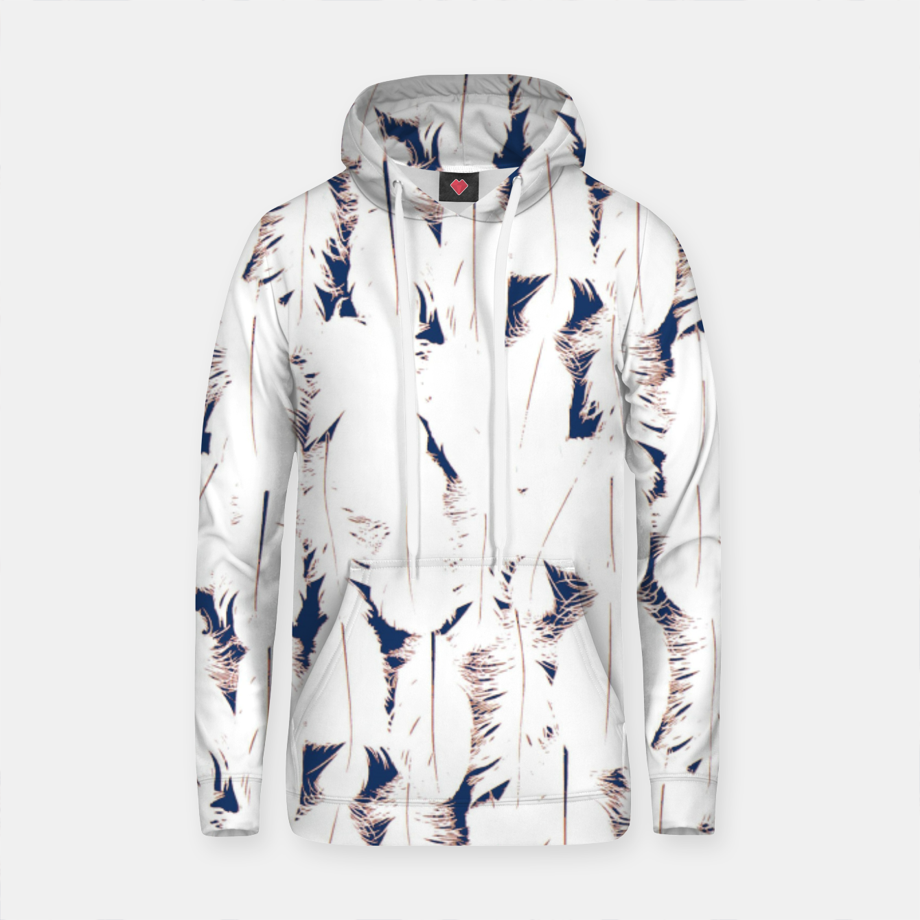 Image of MAD MANUHURU Into The Blue Cotton hoodie - Live Heroes
