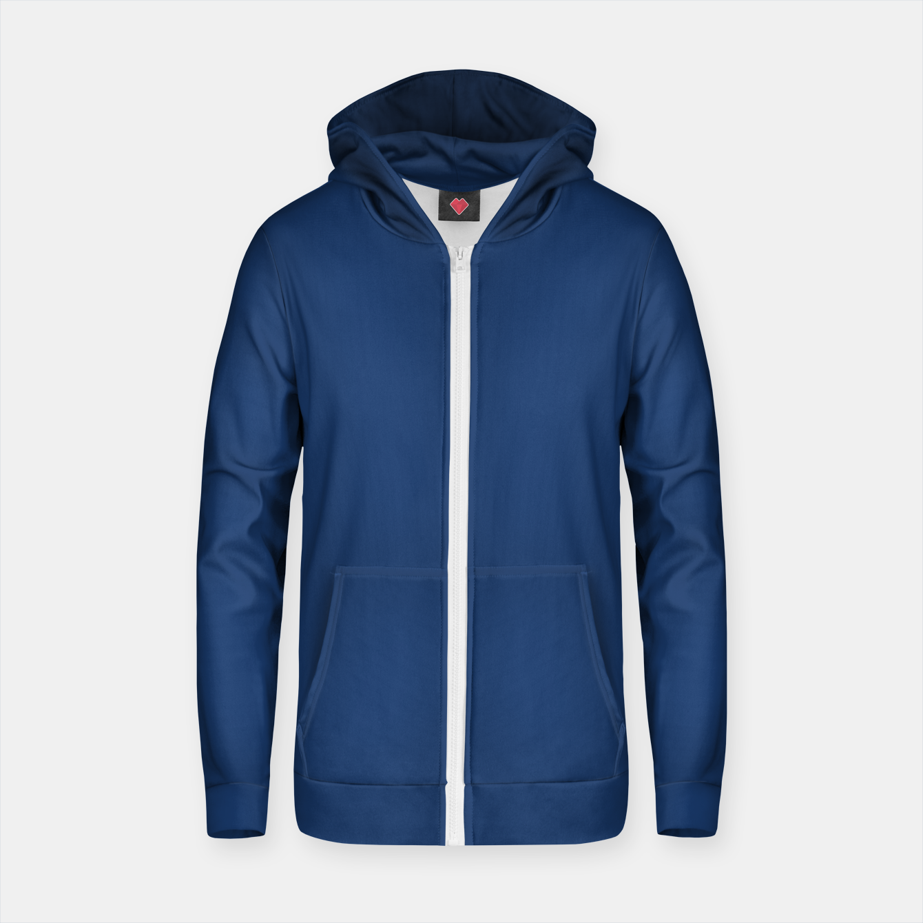 Image of MAD MANUHURU P-Into The Blue Cotton zip up hoodie - Live Heroes
