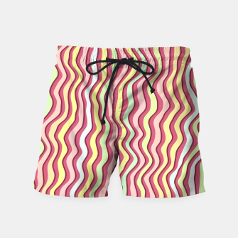 Thumbnail image of Bright colorful stripes Swim Shorts, Live Heroes