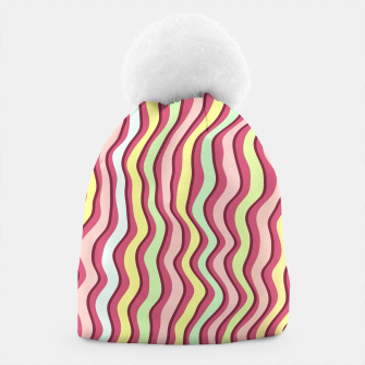 Thumbnail image of Bright colorful stripes Beanie, Live Heroes