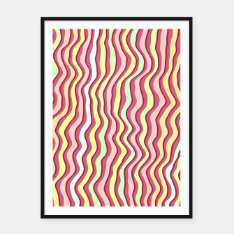 Thumbnail image of Bright colorful stripes Framed poster, Live Heroes