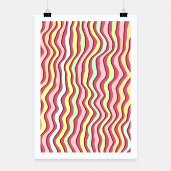 Thumbnail image of Bright colorful stripes Poster, Live Heroes