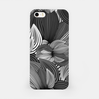 Thumbnail image of Grey Big Flowers iPhone Case, Live Heroes