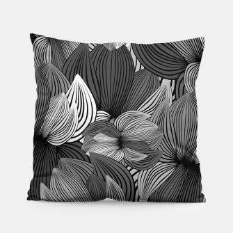 Thumbnail image of Grey Big Flowers Pillow, Live Heroes