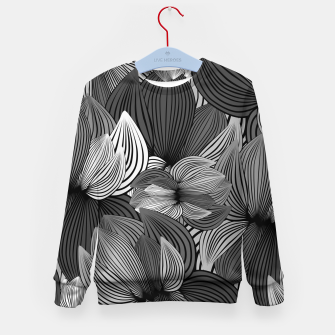 Thumbnail image of Grey Big Flowers Kid's sweater, Live Heroes