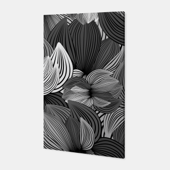 Thumbnail image of Grey Big Flowers Canvas, Live Heroes