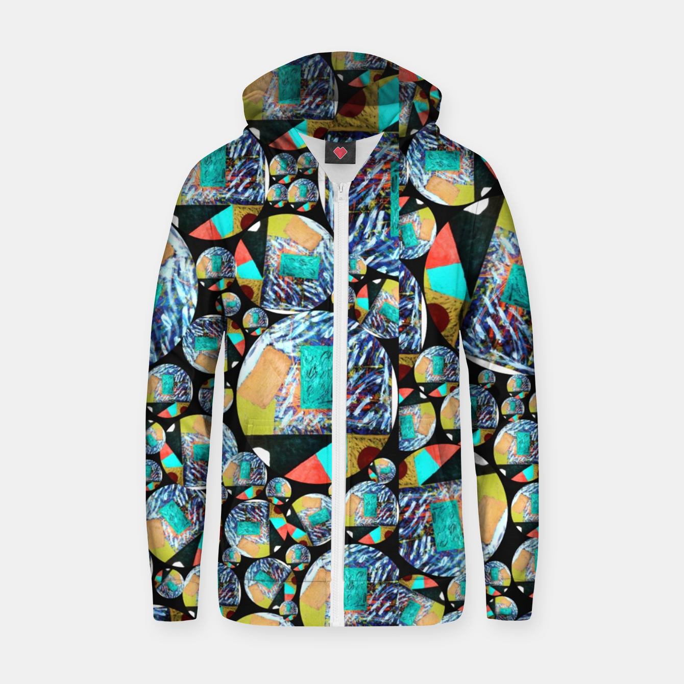 Image of outer space Rush Ambition  Cotton zip up hoodie - Live Heroes