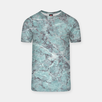 Thumbnail image of Teal Marble Texture T-shirt, Live Heroes