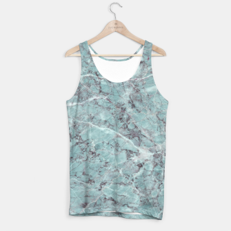 Thumbnail image of Teal Marble Texture Tank Top, Live Heroes