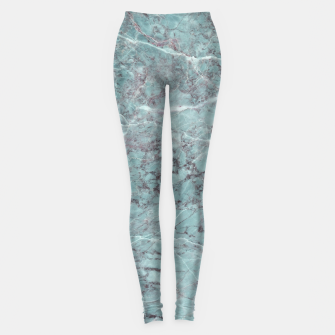 Thumbnail image of Teal Marble Texture Leggings, Live Heroes