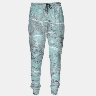 Thumbnail image of Teal Marble Texture Cotton sweatpants, Live Heroes