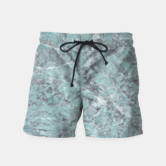 Thumbnail image of Teal Marble Texture Swim Shorts, Live Heroes