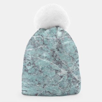 Thumbnail image of Teal Marble Texture Beanie, Live Heroes
