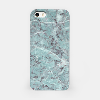 Thumbnail image of Teal Marble Texture iPhone Case, Live Heroes