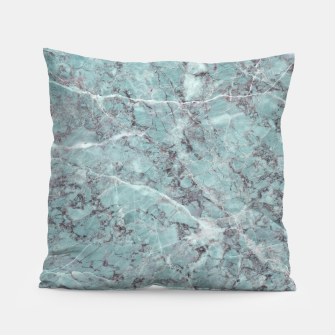 Thumbnail image of Teal Marble Texture Pillow, Live Heroes
