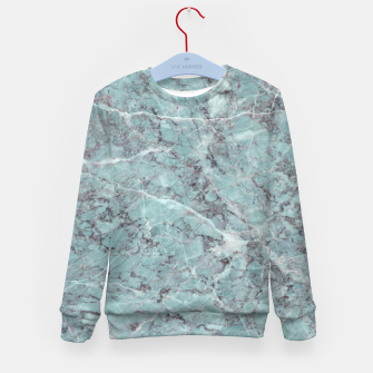 Thumbnail image of Teal Marble Texture Kid's sweater, Live Heroes