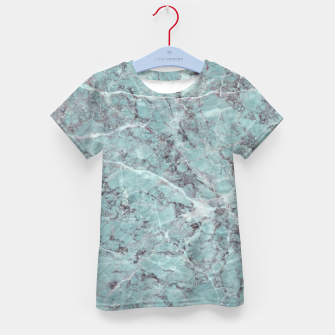 Thumbnail image of Teal Marble Texture Kid's t-shirt, Live Heroes