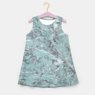 Thumbnail image of Teal Marble Texture Girl's summer dress, Live Heroes