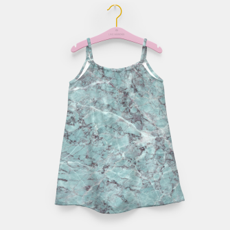 Thumbnail image of Teal Marble Texture Girl's dress, Live Heroes