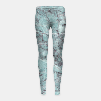 Thumbnail image of Teal Marble Texture Girl's leggings, Live Heroes
