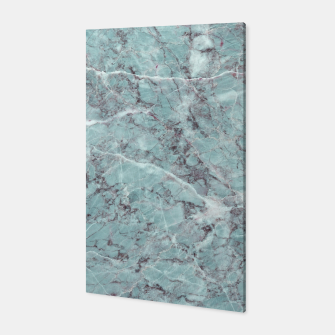 Thumbnail image of Teal Marble Texture Canvas, Live Heroes